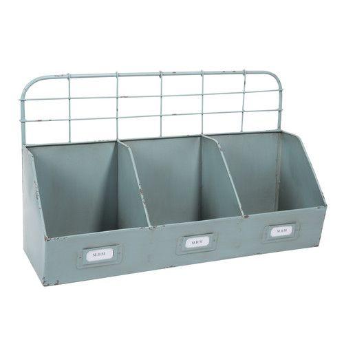 porte courrier en m tal bleu barky maisons du monde w nsche pinterest decoration metal. Black Bedroom Furniture Sets. Home Design Ideas