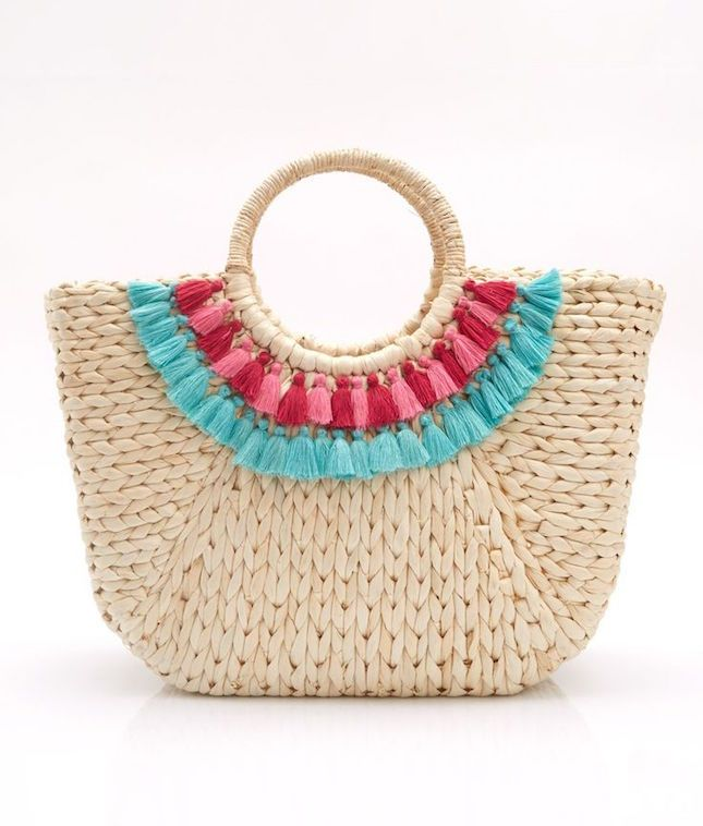 17 Beautiful Beach Bags for Under $100 | Tassels, Bag and Pom poms