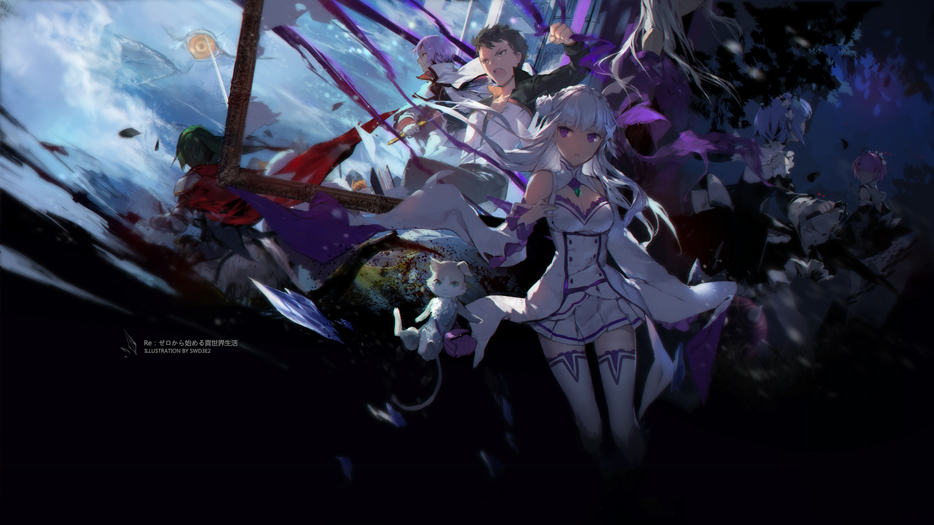 Anime Re Zero Starting Life In Another World Emilia Re Zero Re Zero Pack Re Zero Rem Re Zero Ram Re Zero Wallpaper Anime Wallpaper Hd Anime Wallpapers