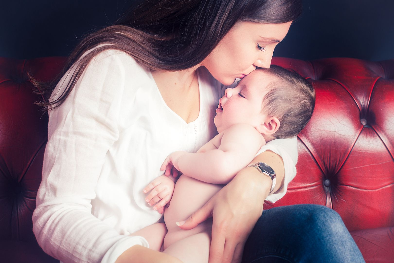 Retrato madre y bebe. Sant Cugat del Vallès.
