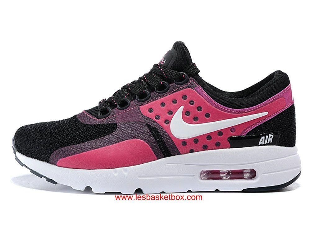 meilleur service 85289 6634c Nike Air Max Zero Rose Noi Et Blanche Chaussures Pas Cher ...