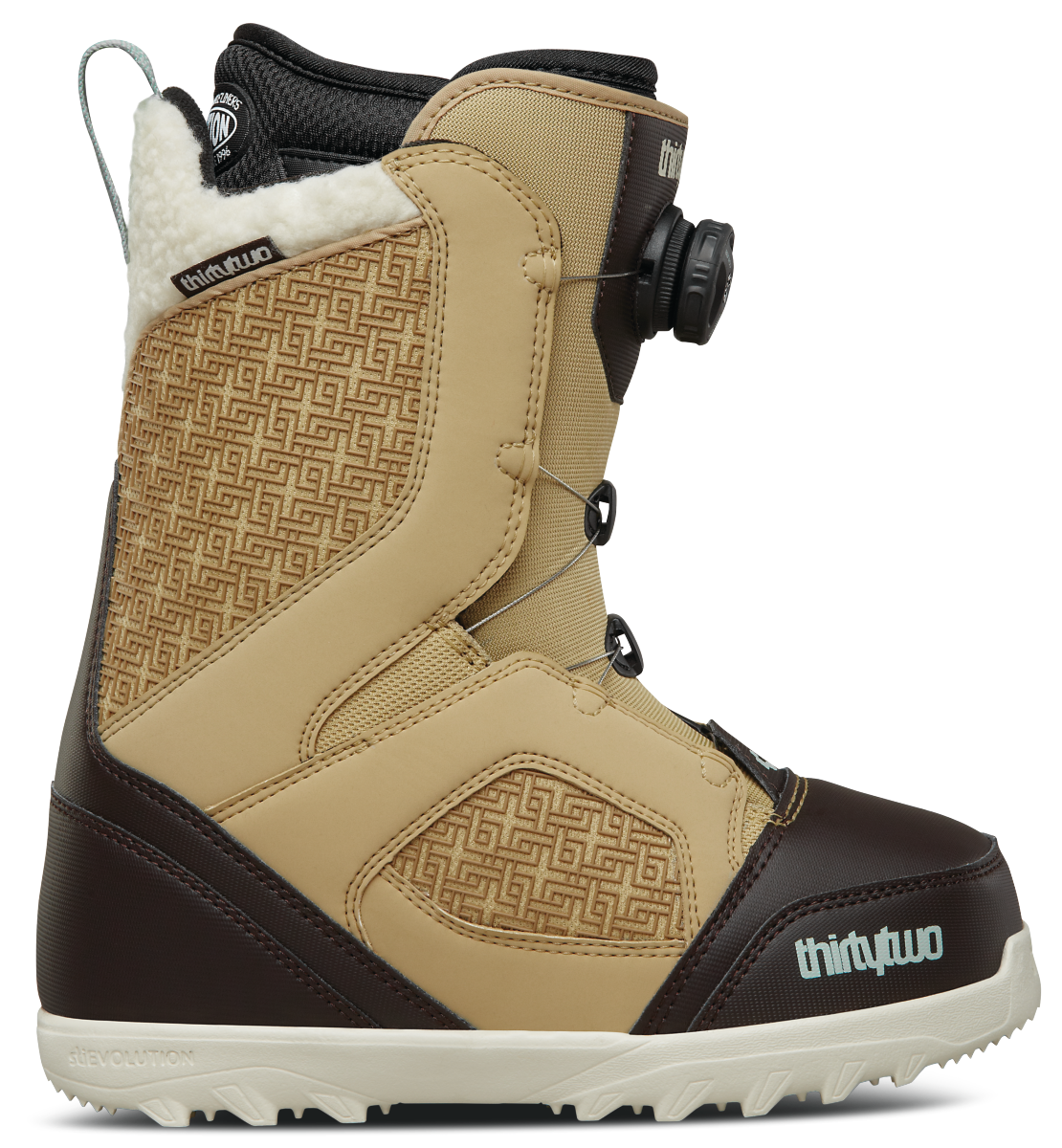 Thirtytwo Women S Stw Boa Snowboard Boots Tan Black 2018 Snowboard Boots Boots Womens Boots