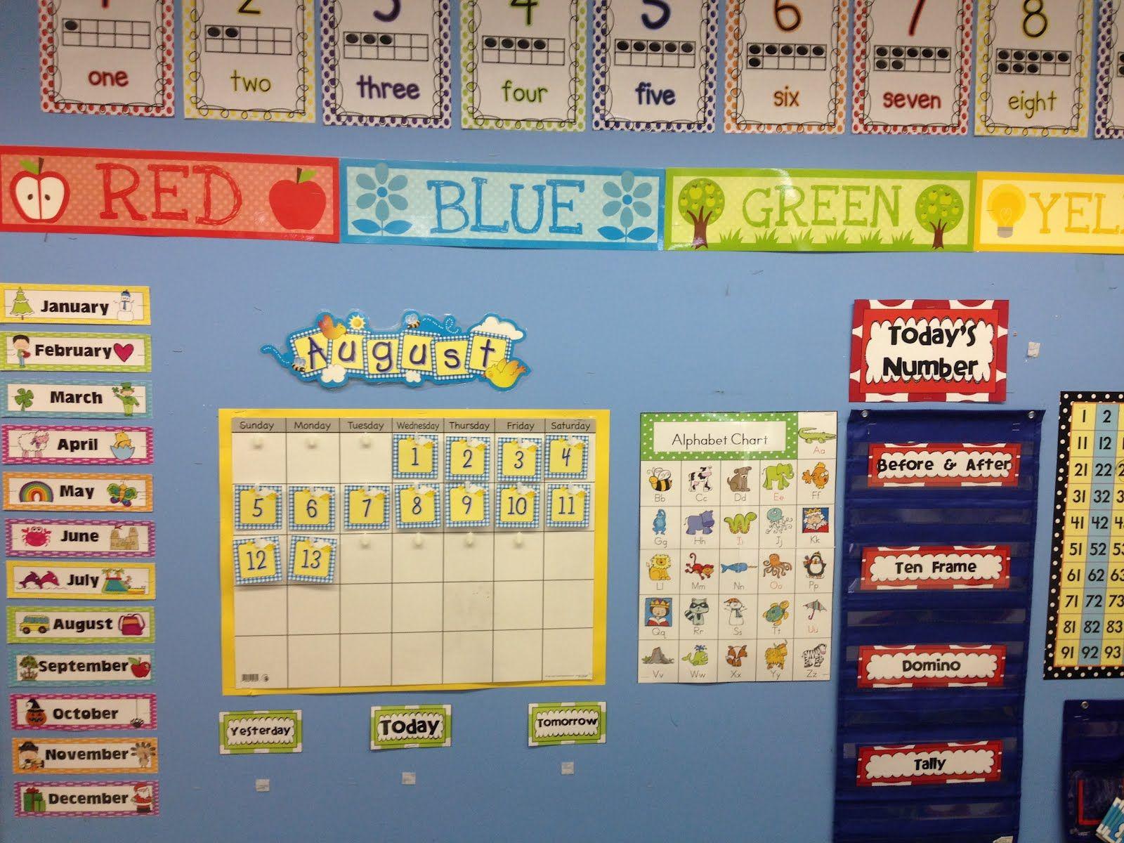 Calendar In Kindergarten Classrooms : Kindergarten classroom calendar wall google search