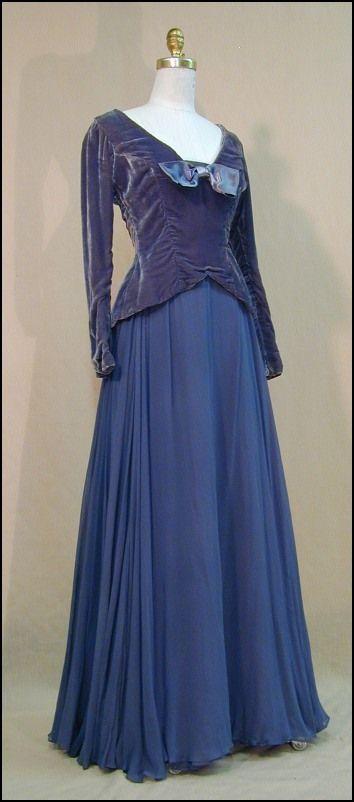 1940 Evening Dress~ | Dress - Accessories | Pinterest