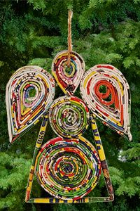Recycled Magazine Angel Ornament at The Animal Rescue Site