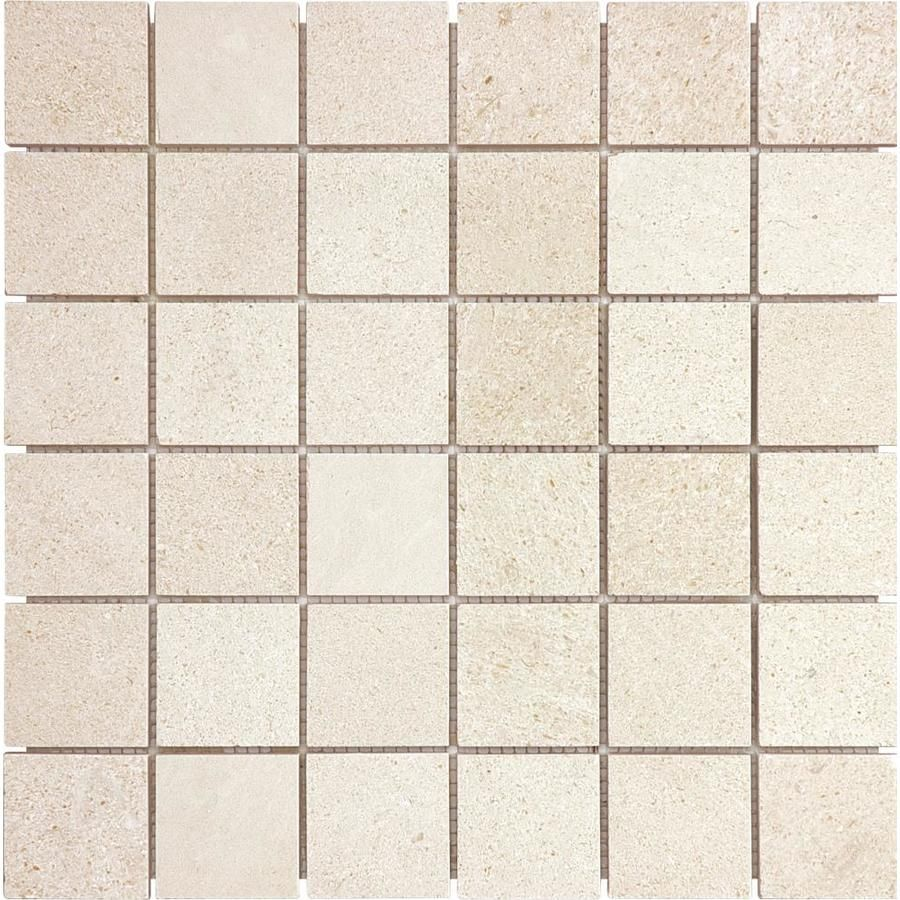 Anatolia Tile Serene Uniform Squares Mosaic Limestone Floor And Wall Tile Common 12 In X 12 In Actual 12 Limestone Flooring Wall Tiles Floor And Wall Tile