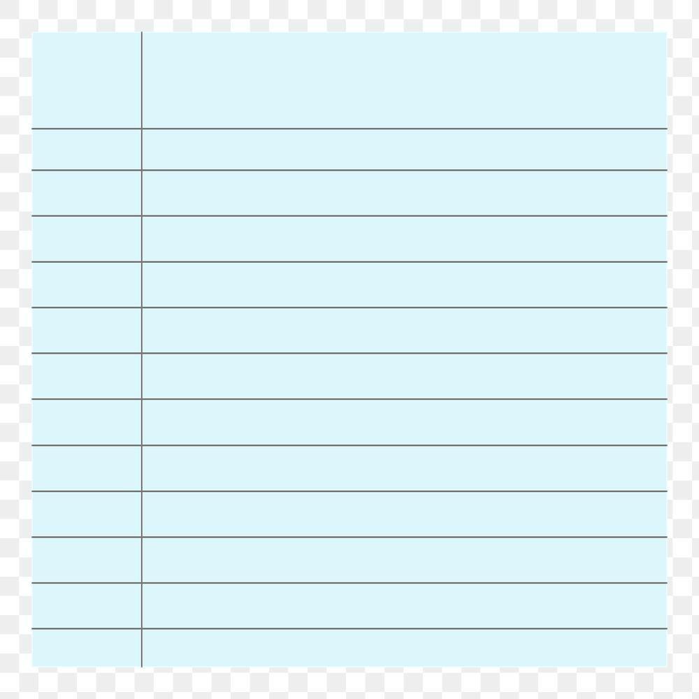 Download Premium Png Of Blank Blue Lined Notepaper Png Design Sticker Note Paper Digital Sticker Design