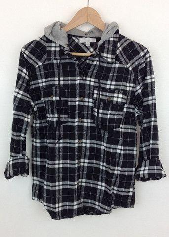hooded black flannel shirt Black Flannel Shirt bd3f6de030