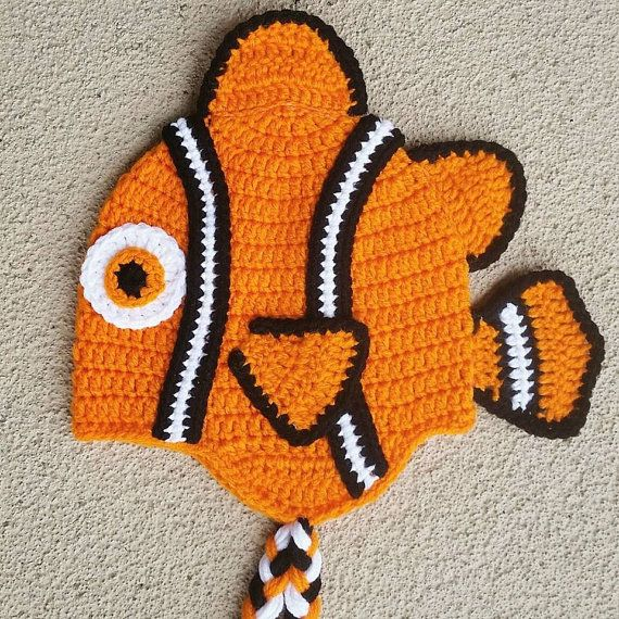 Finding Nemo  crochet hat beanie  hooked on Layla  Hey, I found this really awesome Etsy listing at https://www.etsy.com/listing/237322013/crochet-nemo-hat