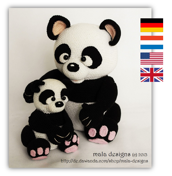 xxl panda und kleiner panda h kelanleitung pdf. Black Bedroom Furniture Sets. Home Design Ideas