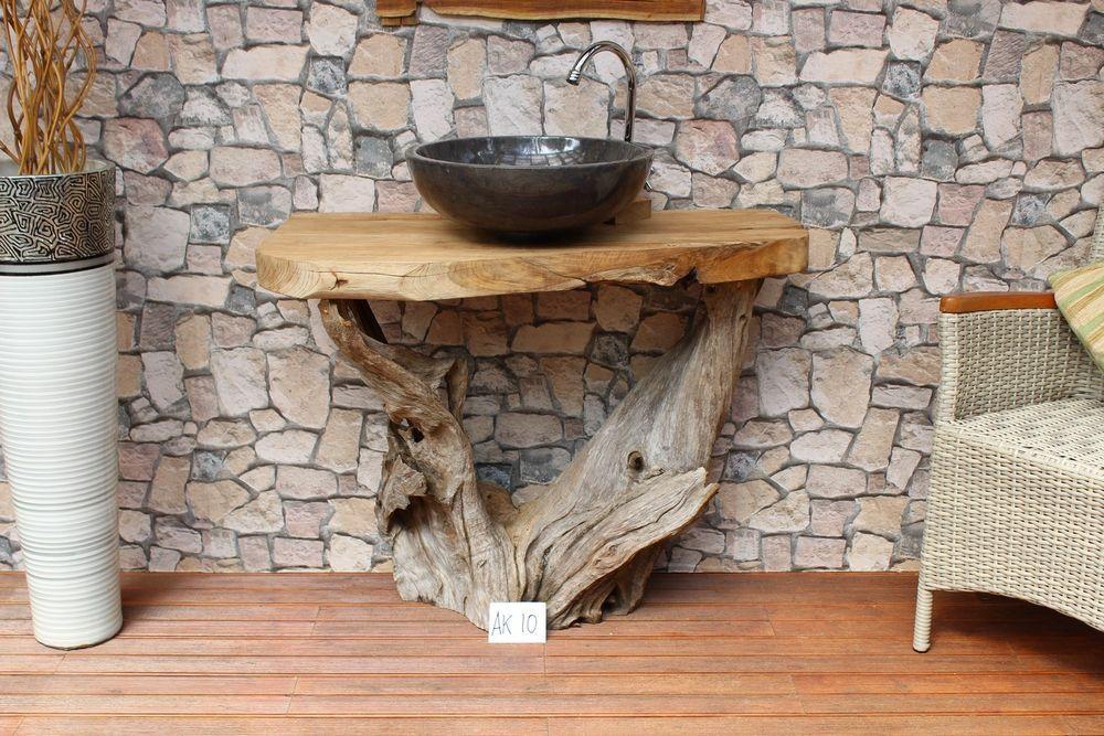Waschbecken Unterschrank Waschtisch Unterbau Teak Holz massiv Bad - badezimmer waschbecken mit unterschrank