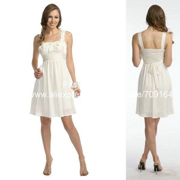 Junior White Dresses For Graduation Photo Album - Reikian