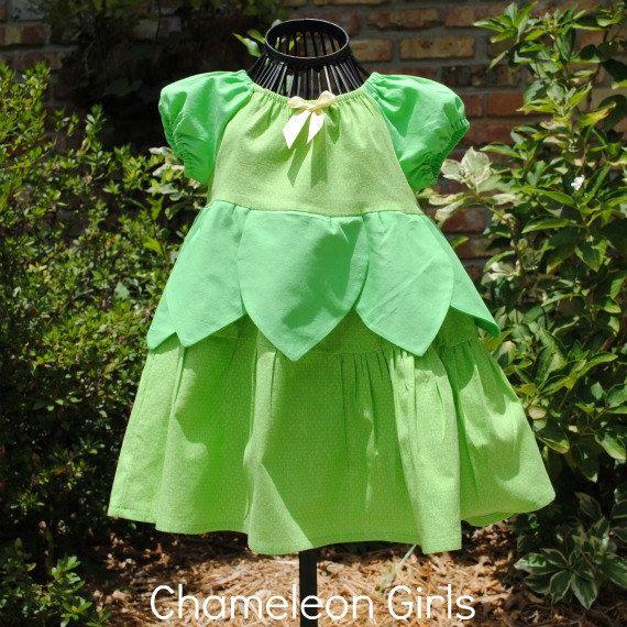 Tinkerbell Dress, Disney Inspired Dress, Princess Dress Up