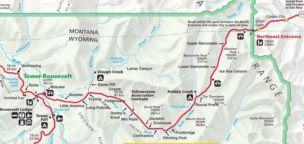 Lamar Valley Map Lamar Valley map, Yellowstone | Lamar Valley | Lamar valley  Lamar Valley Map