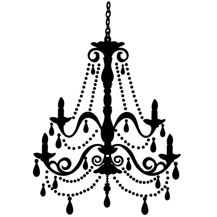 Chandelier wall art svg file download silhouette for Chandelier craft ideas