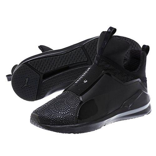 Puma Dark Shadow Black Fierce Kurim Women's Training Shoes