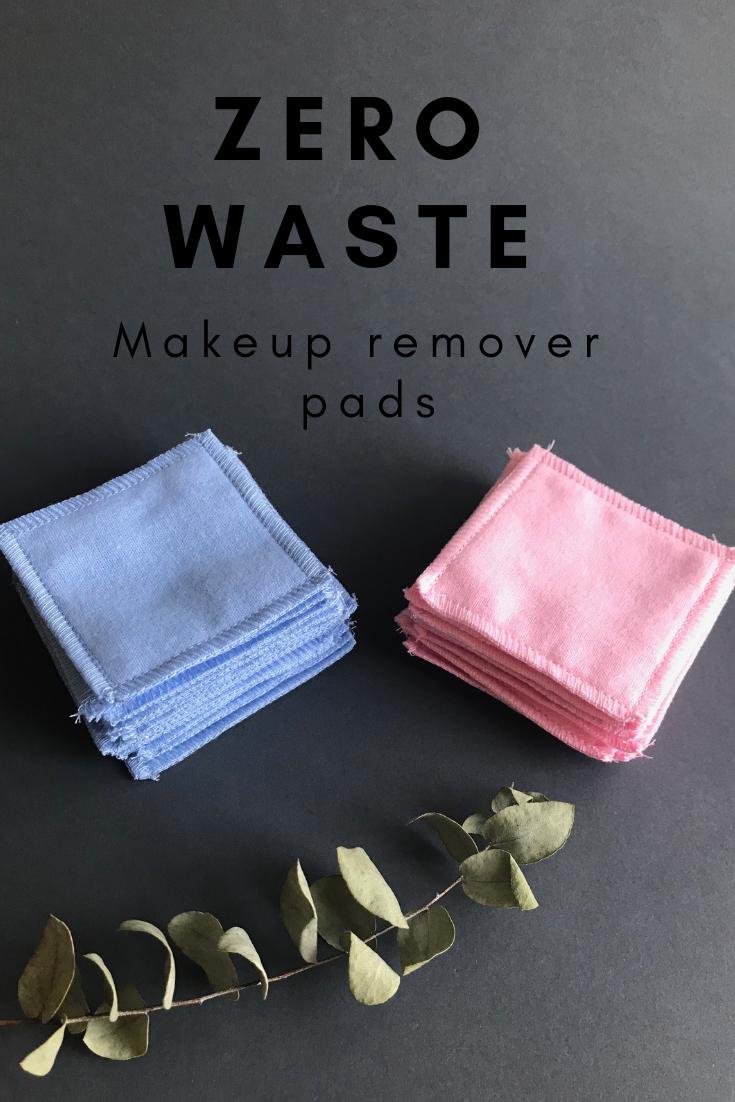 Reusable cotton rounds set. Pink, blue, white facial