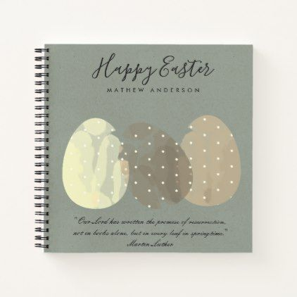 Modern zen grey watercolor easter eggs personalize notebook modern zen grey watercolor easter eggs personalize notebook elegant wedding gifts diy accessories ideas negle Image collections