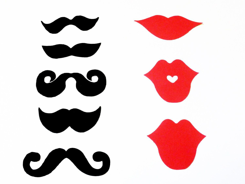 Усы очки губы шаблоны для фотосессии создавая
