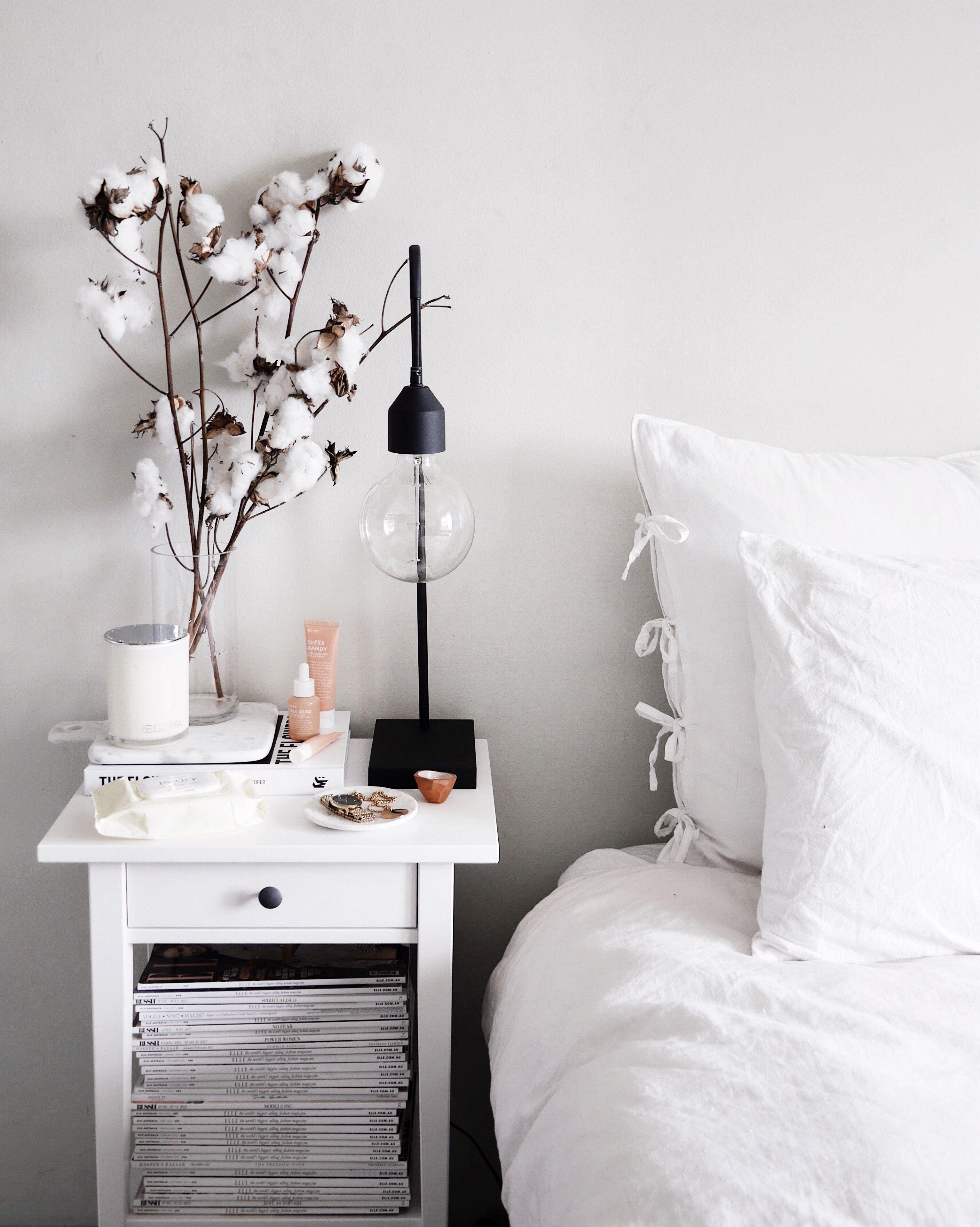 Bedside Nightstand Decor Interior Room Decor