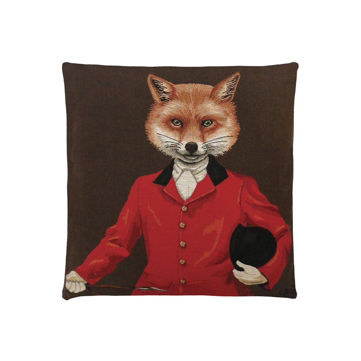 coussins décoratifs avec des animaux personnifiés et habillés en