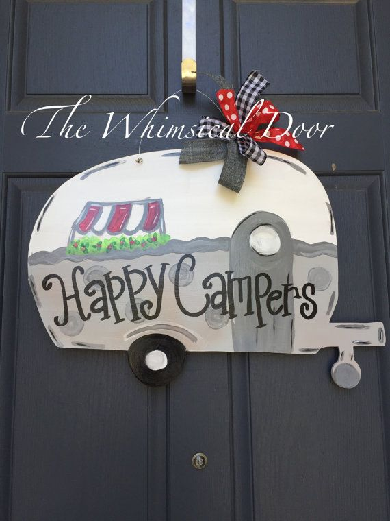 Camper Door Hanger Camping Door Hanger Summer Door Hanger Door Hangers Camping Signs Diy Summer Door Hanger