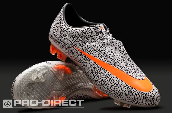 100% authentique d4e75 55cba Nike Mercurial Vapor VI Safari FG - White/Orange/Black ...