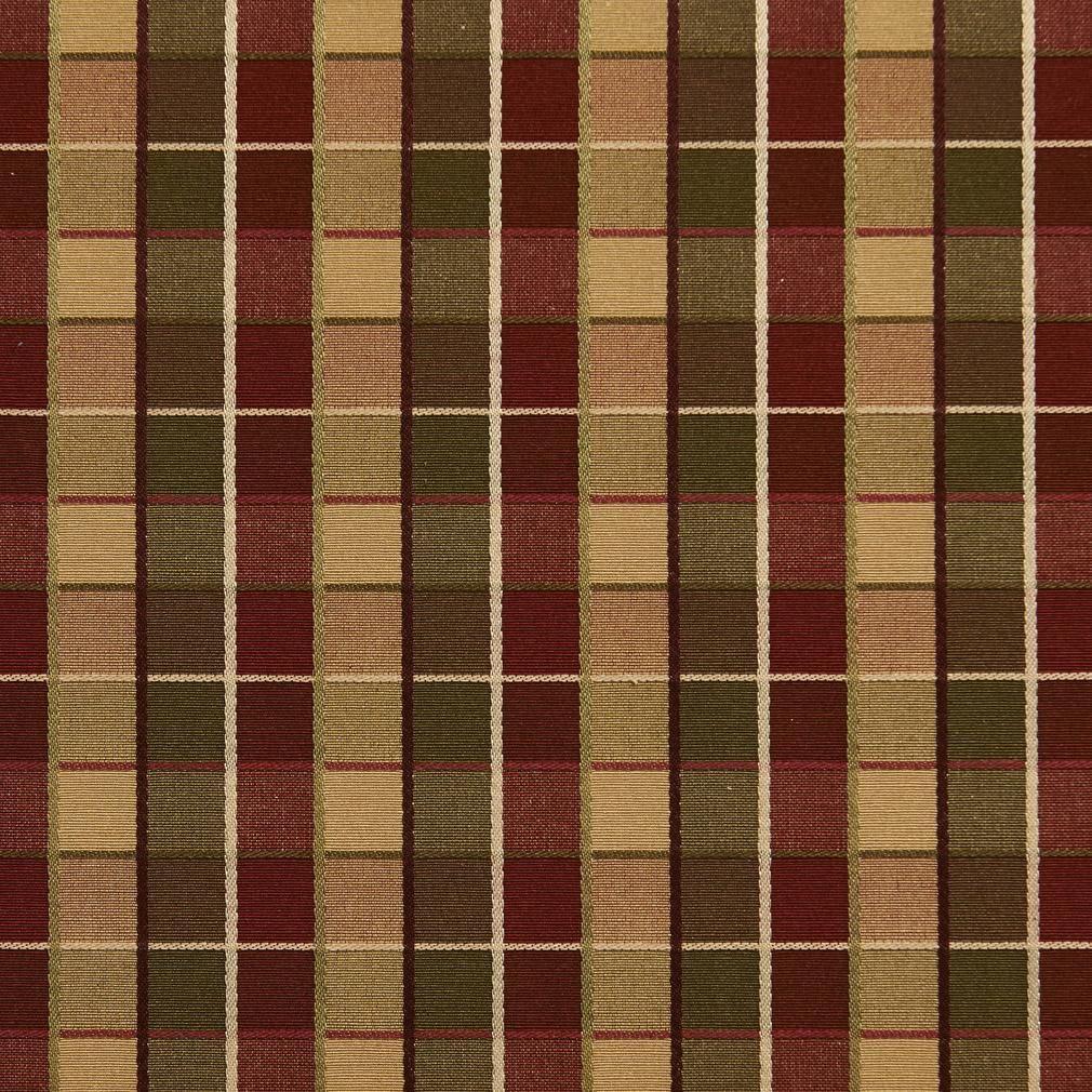 Gold Multi Drapery Upholstery Fabric Railroaded Jacquard Plaid//Check Stripe