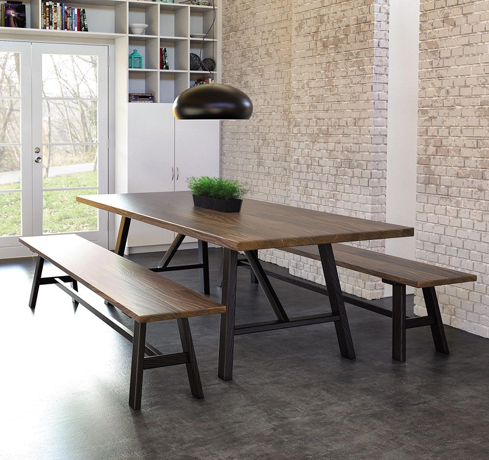 Check out our all new essentials farm table and matching benches by copeland furniture farmhousestyle