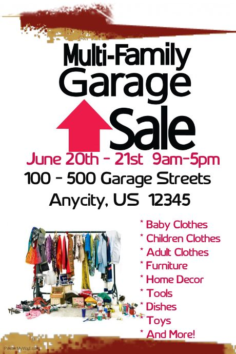 Poster Template  Garage Sale