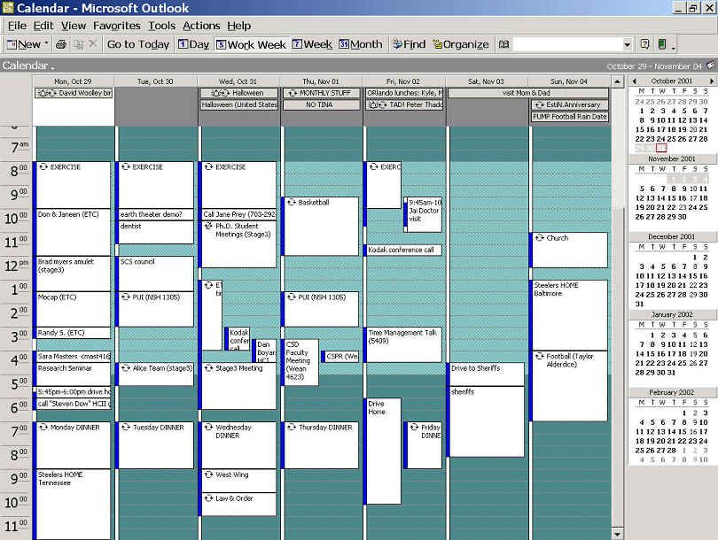 Time management Google Calendar and Outlook Calendars are excellent