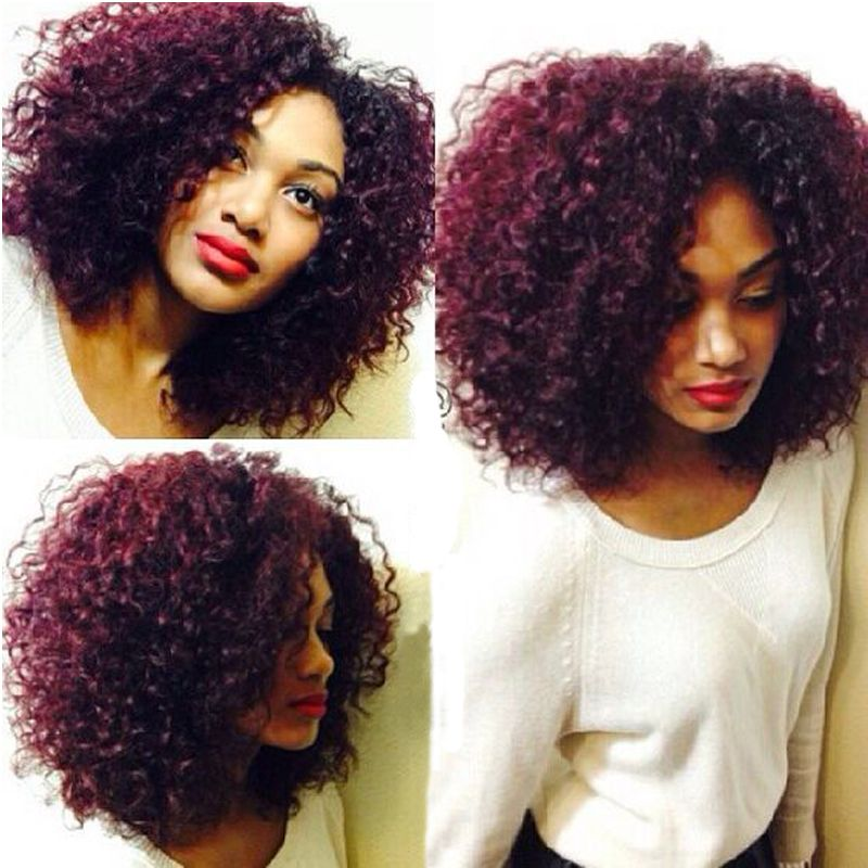 7A Burgundy Brazilian Hair 99J Kinky Curly Virgin Hair Wine Red Brazilian Virgin Hair 4 Bundles Curly Weave Human Hair Bundles