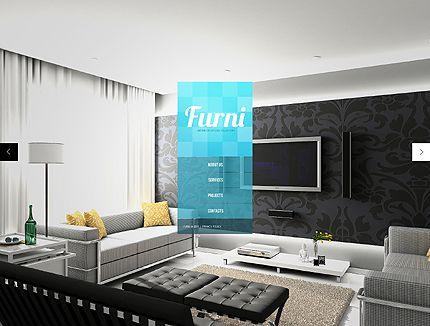 Template 42343 Furni Interior Website Template Best Interior Design Websites Best Home Interior Design Interior Design Website