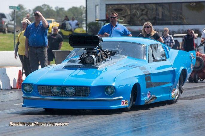 68 Promod Mustang W Huge Bug Catcher Drag Cars Pinterest