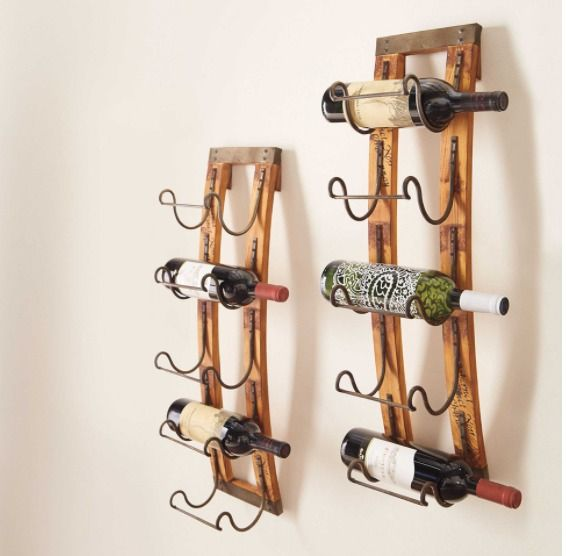 Hanging Wine Rack Towel Racks For Bathroom Wall Mounted Metal Wood