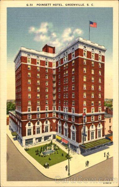 poinsett hotel memories the 50 39 s 60 39 s greenville. Black Bedroom Furniture Sets. Home Design Ideas