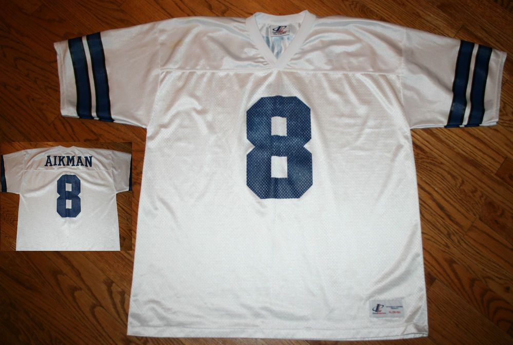 sports shoes 9ab7d efb22 Dallas Cowboys Troy Aikman #8 Football Jersey shirt Men XL ...