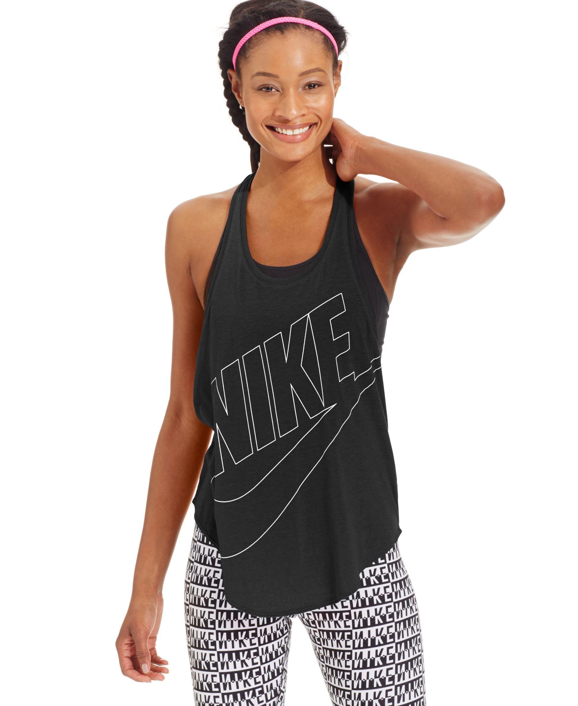 484addfaa5 Nike Graphic Tank Top - Tops - Women - Macy s