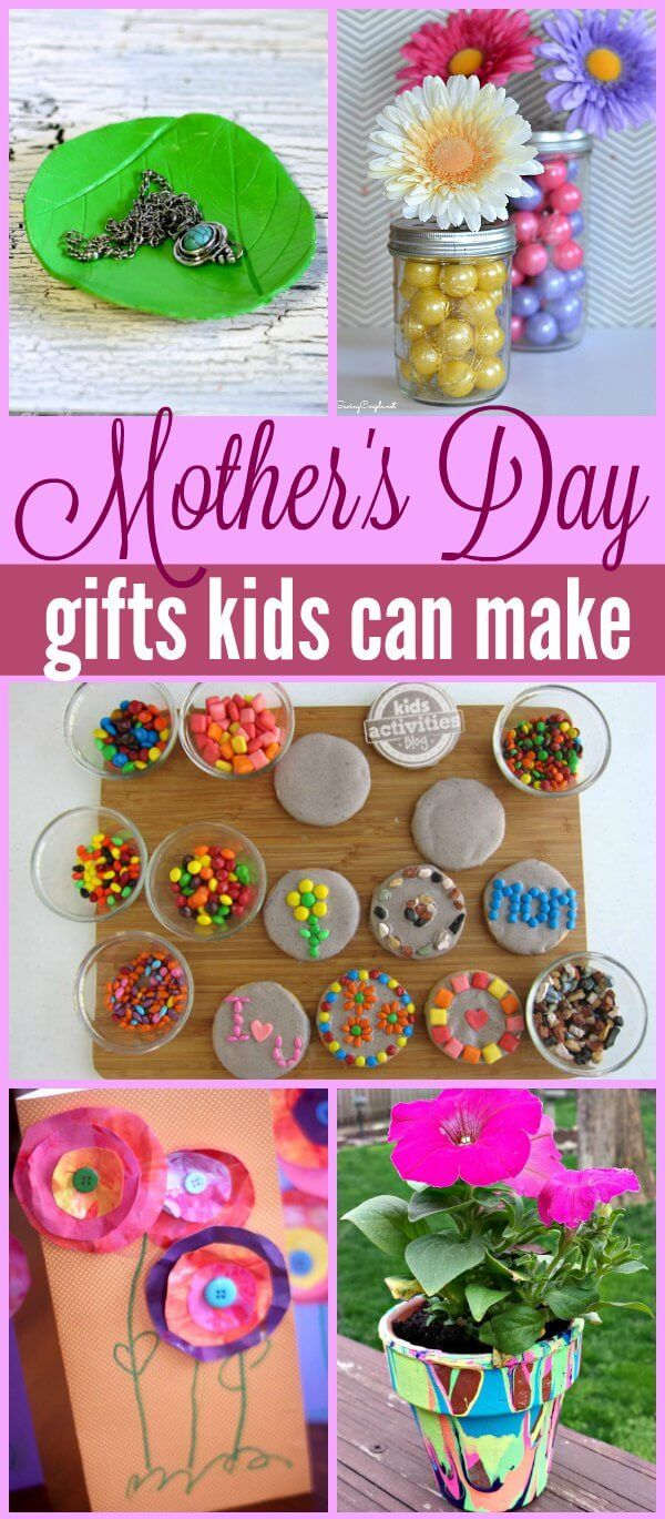 20 Mothers Day Gifts Kids can Make Create Gift and Craft