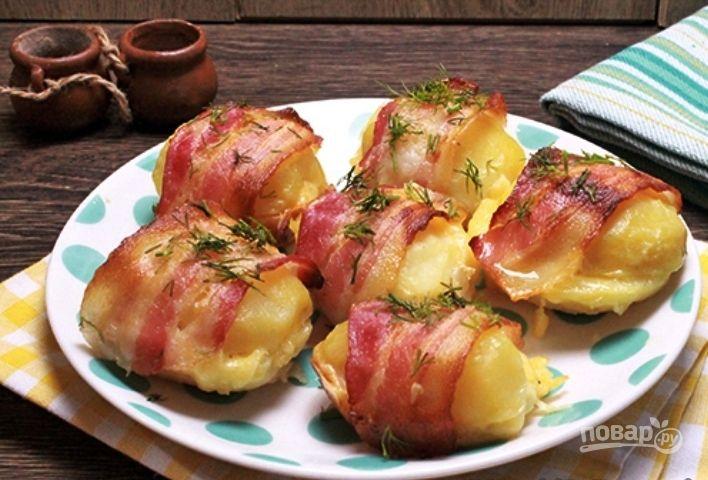 печеная картошка с беконом
