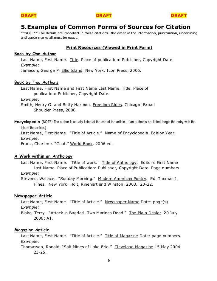 Help Writing Journalism Bibliography Apa Maker Bibliography Page - new 8 copyright statement example