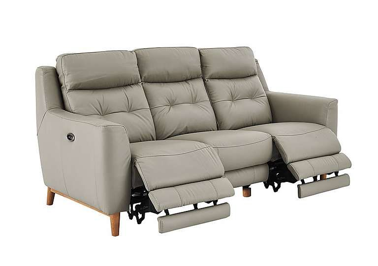 High Quality Compact Collection Bijoux 3 Seater Leather Recliner Sofa   Furniture Village