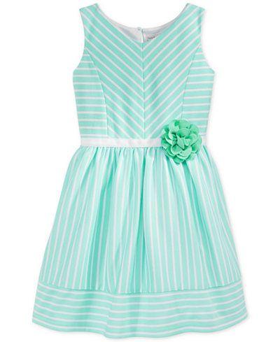 Sweet Heart Rose Little Girls' Striped Ponte Skater Dress