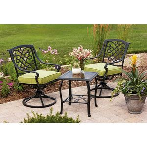 Better Homes And Gardens Hillcrest Outdoor Bistro Set Seats 2