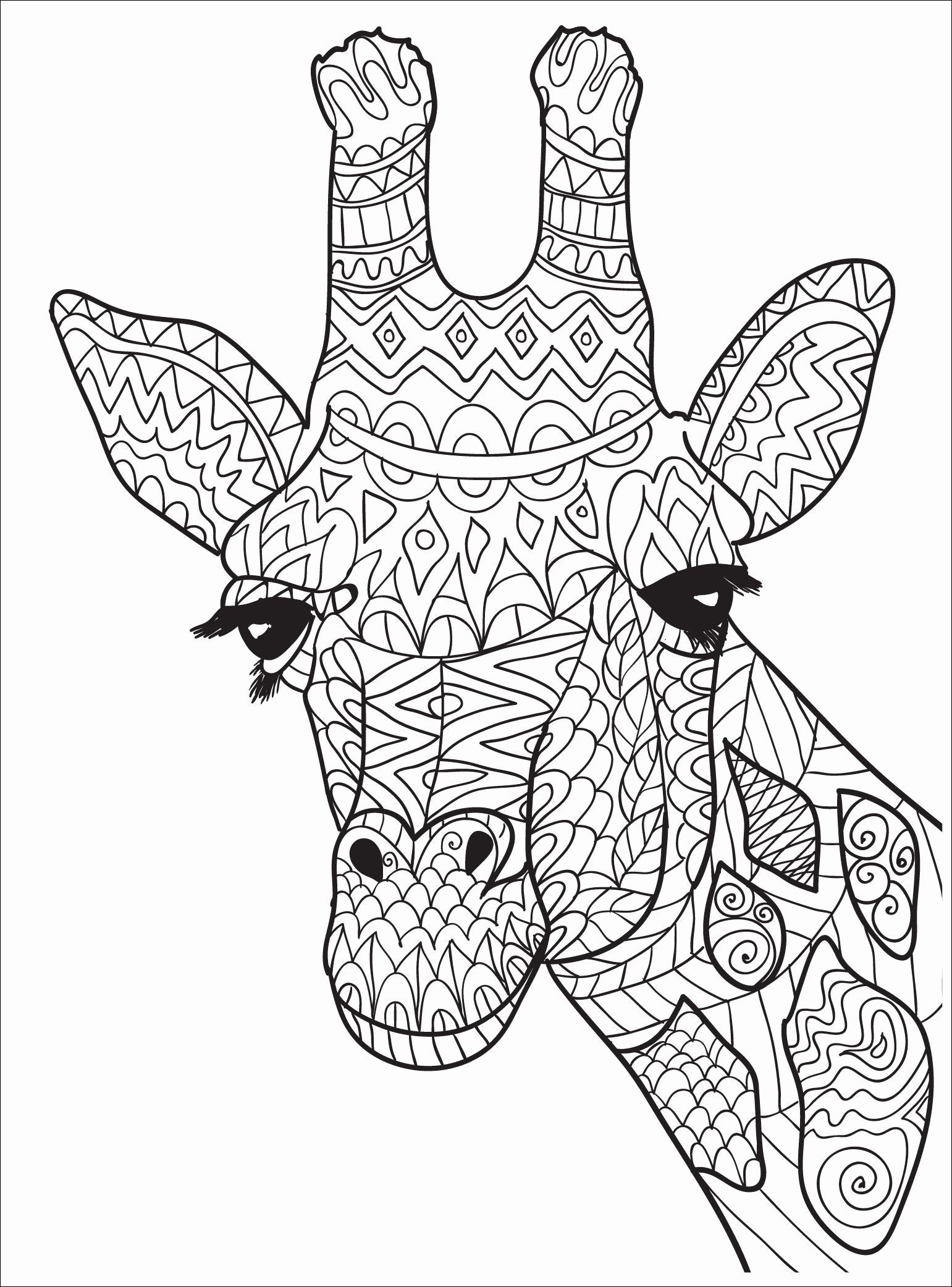 Advanced Coloring Pages Animals Unique 23 New Image Cute Animal Coloring Page For Adults Giraffe Coloring Pages Animal Coloring Pages Giraffe Colors