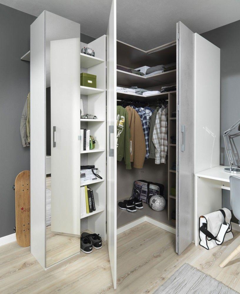 Wellemobel Gmbh Concrete Eck Kleiderschrank Jugendzimmer