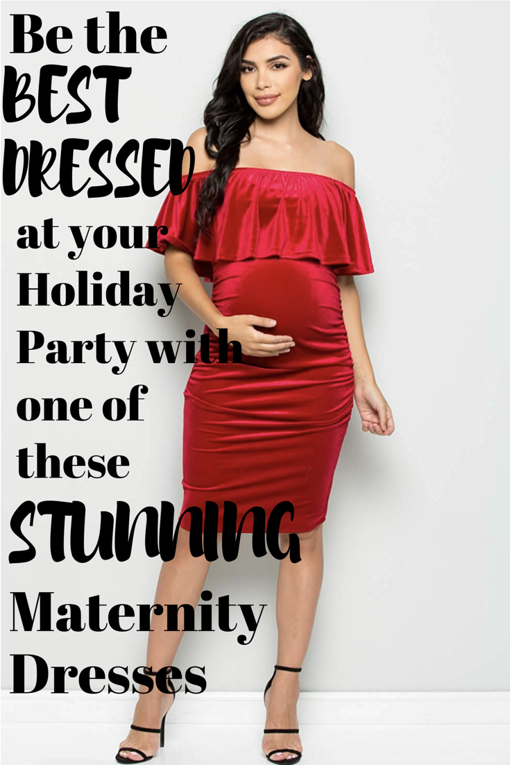 f06bc7002123e Be the star of the show with this collection of the hottest, most  flattering and most affordable holiday maternity dresses ever! There is  black, red, ...