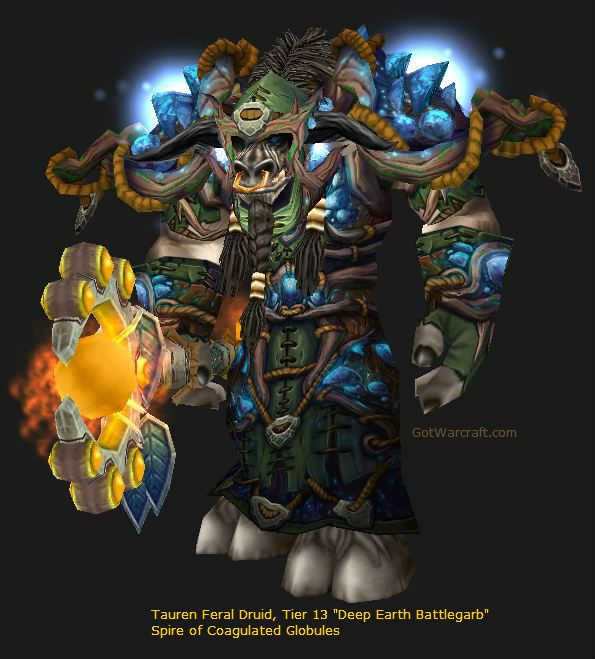 Mightiness tauren druid tier 13 deep earth battlgarb for Wow portent 5 4