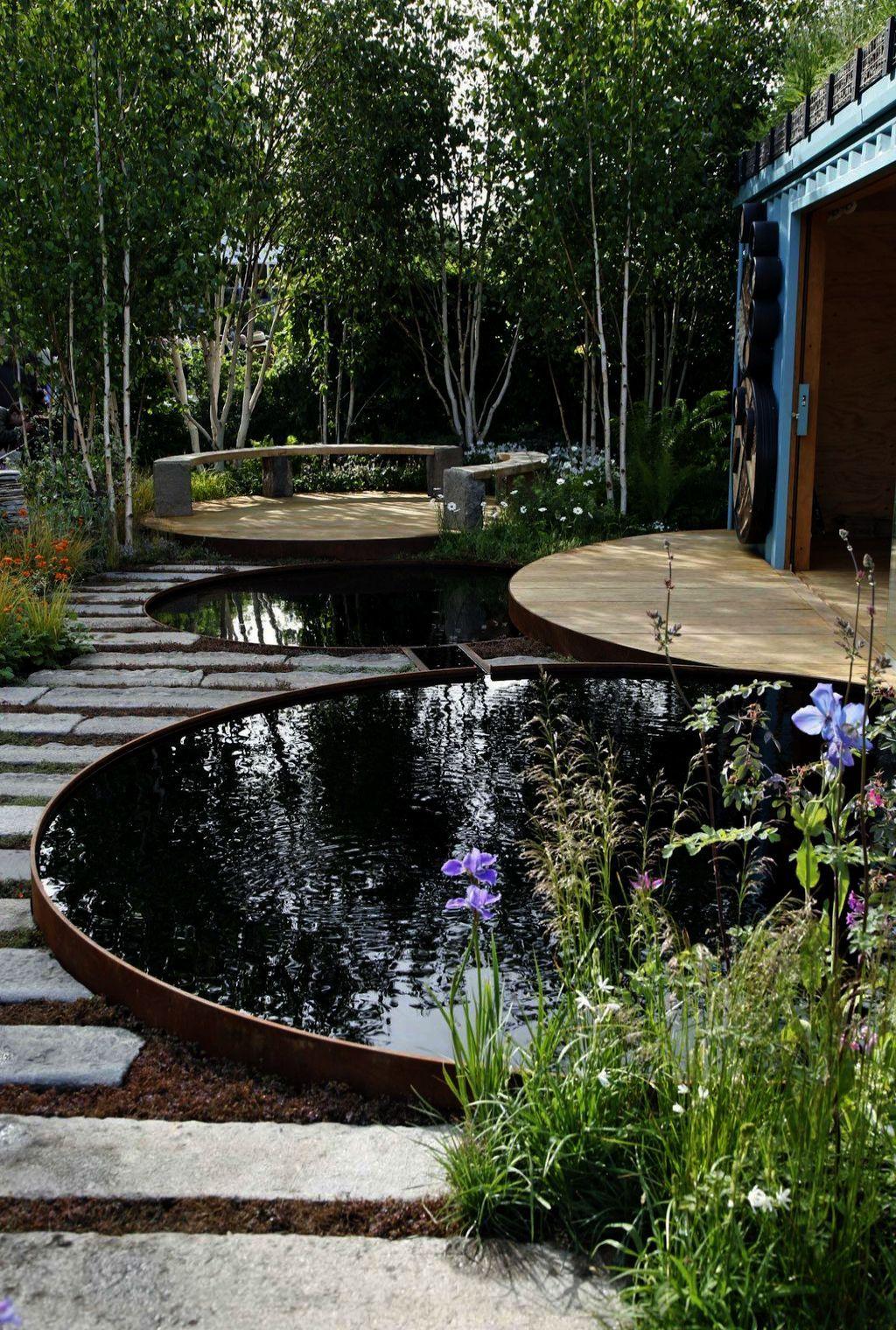 Landscape Gardening Rochdale Though Garden Landscaping Cost Garden Pond Design Backyard Water Feature Modern Pond