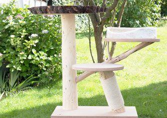 kratzbaum mit riesiger baumscheiben liegefl che kratzbaum naturholz pinterest kratzbaum. Black Bedroom Furniture Sets. Home Design Ideas